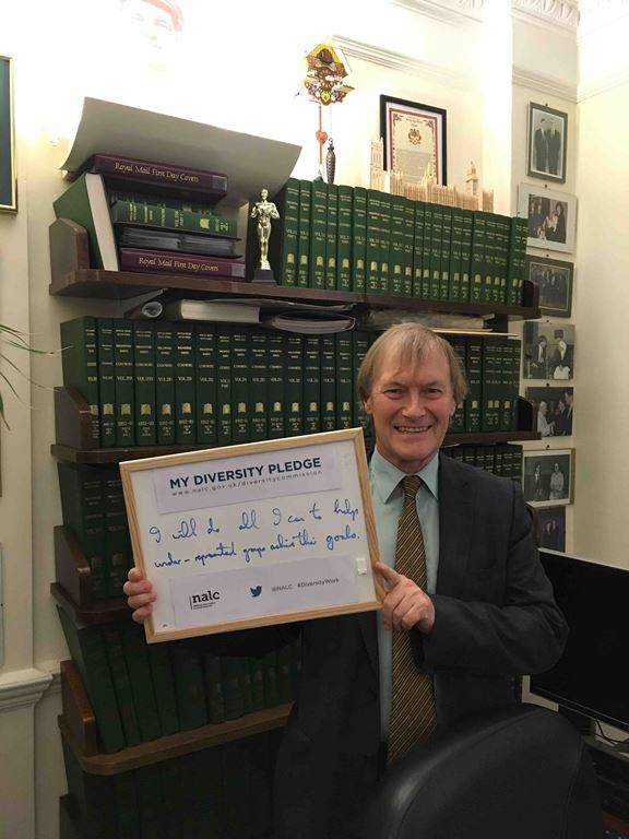 Sir David Amess MP supporting diversity commission2
