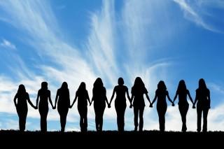 bigstock-Silhouette-of-ten-young-women--15281810