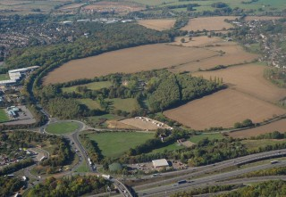 bigstock-Aerial-View-Of-Bishop-s-Stortf-266677405