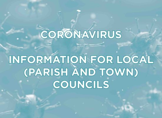 CORONAVIRUS — INFORMATION FOR LOCAL (PARISH AND TOWN) COUNCILS